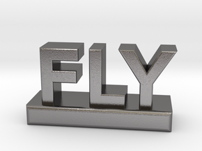 FLY - the word. in Polished Nickel Steel