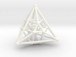 Hyper Tetrahedron Vector Net  in White Strong & Flexible Polished