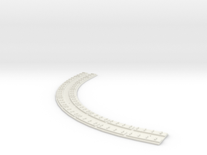 "HO Concrete Direct Fixtation 7"" Radius Track 90deg in White Strong & Flexible"
