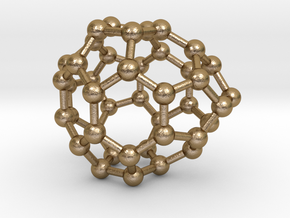0237 Fullerene C42-16 c2v in Polished Gold Steel