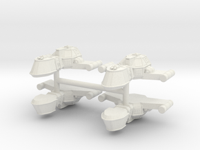 ZD003 Bâel Dûne Fighter Cruiser in White Strong & Flexible