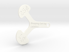 Canadian Cart Key in White Strong & Flexible Polished