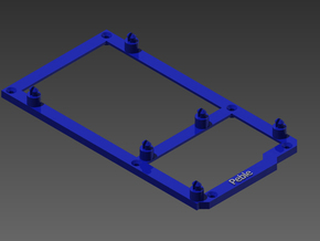 Low desktop stand for Arduino Mega in Blue Strong & Flexible Polished