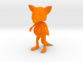Tiny @Belly Fox in Orange Strong & Flexible Polished