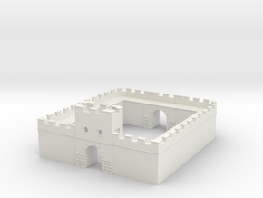 Roman Milecastle (Detached) in White Strong & Flexible