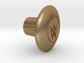 Shooter Rod Knob - Wrestling in Polished Gold Steel