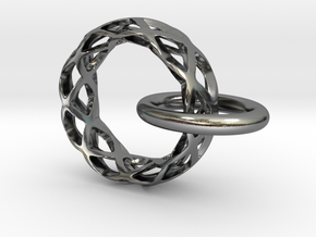 Loop pendant in Polished Silver