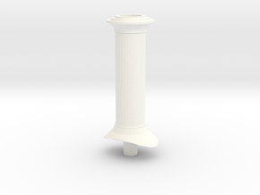 G Scale Chimney #1 (GRS Hunslet) in White Strong & Flexible Polished