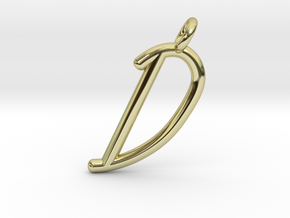 D in 18k Gold Plated