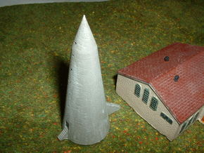 WINKELTURM, German air raid shelter 1/285 6mm in White Strong & Flexible
