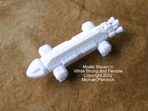 SF01 Space Transport in White Strong & Flexible
