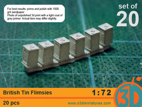 British Tin Flimsies 1/72 scale pack of 20 in Frosted Ultra Detail