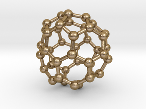 0263 Fullerene C42-42 cs in Polished Gold Steel