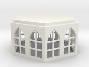 15mm Building Unit with Gothic Windows in White Strong & Flexible