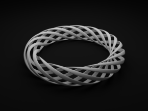 Spiral Style Bracelet  in White Strong & Flexible Polished