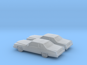 1/160 2X 1977 Cadillac De Ville Coupe in Frosted Ultra Detail