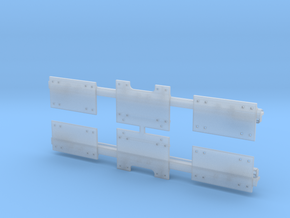 9FTC138HGRO - 9 Ft O Scale Hook Guard Rail in Frosted Ultra Detail