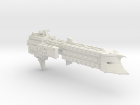 'BFG' Terran Scimitar Class Escort Ship in White Strong & Flexible