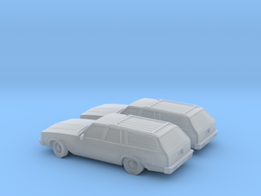 1/160 2X 1980 Chevrolet Malibu Station Wagon in Frosted Ultra Detail