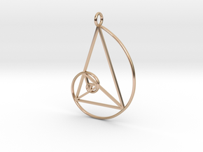Art Pendant in 14k Rose Gold Plated