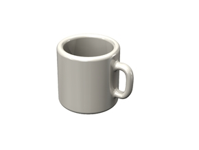 Doll house coffee mug in White Strong & Flexible