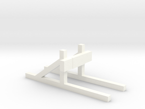 Buffer stop (HO scale) in White Strong & Flexible Polished