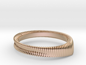Springring (Japan 12,America 6.5,Britain M) in 14k Rose Gold Plated