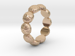 Urchin Ring 1 - US-Size 7 1/2 (17.35 mm) in 14k Rose Gold Plated