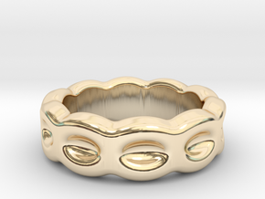 Funny Ring 18 – Italian Size 18 in 14k Gold Plated