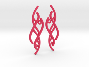S-Curve Earrings in Pink Strong & Flexible Polished