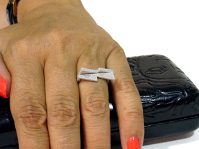 Adjustable ring. Basic set 7. in Polished Metallic Plastic