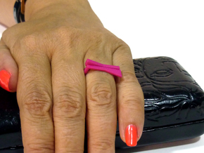 Adjustable ring. Basic set 8. in Pink Strong & Flexible Polished