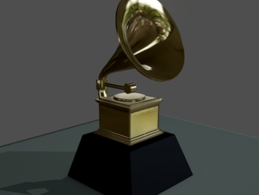 Customizable Grammy in White Strong & Flexible