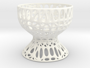 Egg Cup (001) in White Strong & Flexible Polished