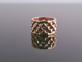 Gold Mesh Ring / Sterling Silver Mesh Ring in Premium Silver