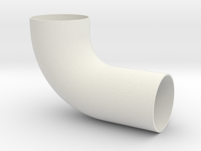 Cessna 172 Vent Elbow Long, 0422014 long in White Strong & Flexible