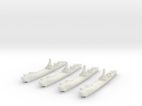 1/2400 IJN No.101 Landing Ship (X4) in White Strong & Flexible