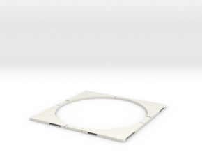T-32-wagon-turntable-168d-100-corners-flat-1a in White Strong & Flexible