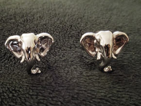 Elephant Cufflinks in Rhodium Plated