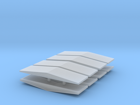 #5b V2 Ballast Car End Roofs in Frosted Extreme Detail
