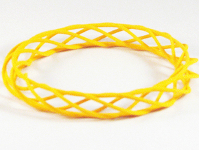Twist Bangle A03M in Yellow Strong & Flexible Polished