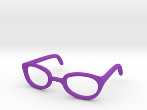 Eye Glasses Frames Egg: BJD doll size MSD in Purple Strong & Flexible Polished