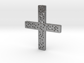 The Old Rugged Cross... in Raw Silver