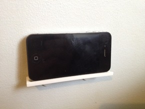 Wall Mount for IPhone (4S) in White Strong & Flexible