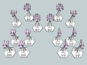 MicroFleet Do'Minion Fast Attack Group (14pcs) in Frosted Ultra Detail