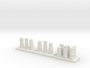 T022 Chimney Pots - 4mm in White Strong & Flexible