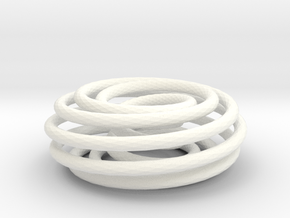 (2, 9) Spiral Torus in White Strong & Flexible Polished