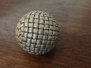 Single Stranded Globe Knot - 320 Facets in Stainless Steel