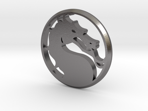 Mortal Kombat Medallion in Polished Nickel Steel