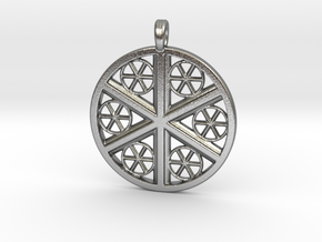 WHEELS OF LIFE in Raw Silver
